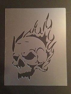 Skull #9 Stencil 7mil Crafts, Airbrushing!