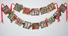Gingerbread MERRY CHRISTMAS Banner Decoration.