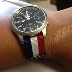 Seiko SNK809 Automatic watch on a NATO strap. | Flickr - Photo Sharing!