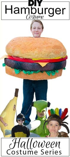 This is awesome!!  DIY hamburger costume tutorial. Homemade Halloween costume series at…