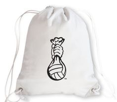 This volleyball drawstring bag is created from authentic volleyball leather. The volleyball leather is durable, puncture resistant, and virtually spill proof! If you love volleyball, carry the only bag made from actual volleyball leather! Perfect for players, coaches, students, spectators – you can carry your shoes, change of clothes, books, keys, phone, water bottle…even a volleyball fits inside.