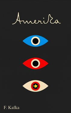 Love cool graphic design - not crazy about Franz Kafka though - he was one seriously twisted dude… artwork byPeter Mendelsund. A.A. Knopf,Pantheon,