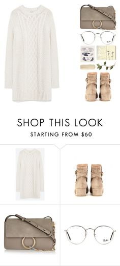 """#517"" by missad3 ❤ liked on Polyvore featuring Zara, Gianvito Rossi, Chloé, Ray-Ban and Moleskine"