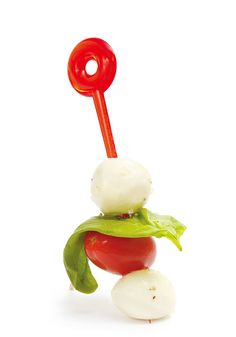 "The ""recipe"" for this Italian sandwich-on-a-stick is so simple, you'll make it once and remember it forever. All you need are cherry tomatoes, baby mozzarella (aka bocconcini), olive oil, salt, pepper, garlic, basil leaves and a fistful of toothpicks."