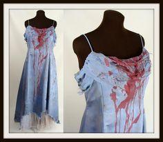Custom Made Plus Size Bloody Blue Prom Dress #Zombie #Halloween Costume Size 18 XL XXL by wardrobetheglobe, $110.00