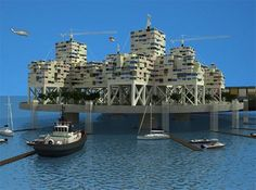 Fixed & Floating Cities: 5 Futuristic Artifical Island Designs