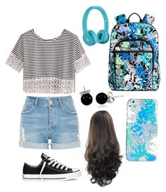 """""""Back to school look"""" by nikkisfashion273 on Polyvore featuring Vera Bradley, River Island, Converse and Bling Jewelry"""