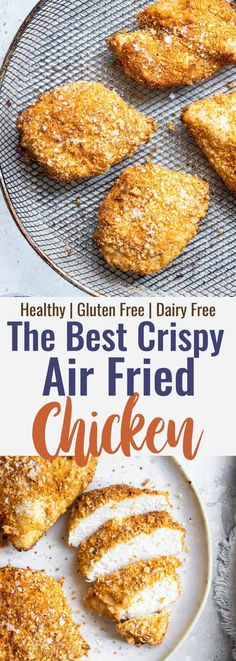 Crispy Breaded Air Fryer Chicken Breast - SO crispy you won't believe how healthy and easy it is to make! Great for busy weeknights and for picky eaters! There is a gluten free option included! | #Foodfaithfitness | #Glutenfree #Healthy #Kidfriendly #Airfryer #Nutfree Air Fryer Recipes Chips, Air Fryer Recipes Appetizers, Air Fryer Recipes Low Carb, Air Fryer Recipes Breakfast, Baked Chicken Nuggets, Fried Chicken Breast, Air Fryer Recipes Chicken Breast, Healthy Chicken Recipes, Vegetable Recipes