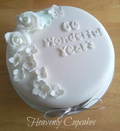 60th Anniversary cake - Diamond wedding anniversary cake