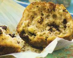 Muffins allégés à la banane et chocolat