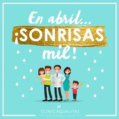 En abril, lluvias mil... pero también sonrisas!   #saluddental #sonrisa #abril #clínicadental