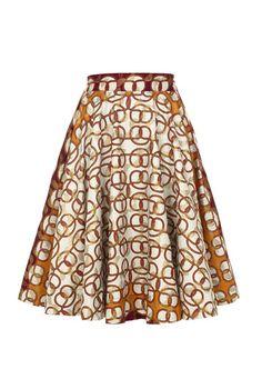 Metallic Print Circle Skirt from Kisua. Ooooh I'm in love, I'm in love, I'm in love!