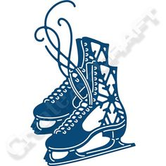Tattered Lace Ice Skates Die (377872)   Create and Craft