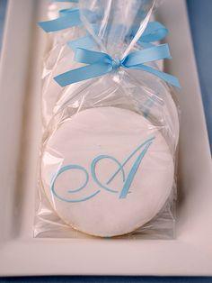 """A"" monogram cookie by TreatsSF, via Flickr"