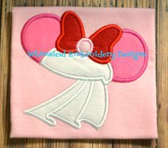 Applique Girl Mouse Bride 2 Machine by WhimsicalEmbroidery on Etsy, $4.00