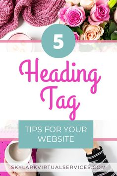 Heading tags are useful for two reasons: for SEO and to help make content easier to read. Learn about using header tags including the tag definition Content Marketing Strategy, Seo Marketing, On Page Seo, Seo Tips, Blogging For Beginners, Make Money Blogging, Search Engine, Online Business, About Me Blog
