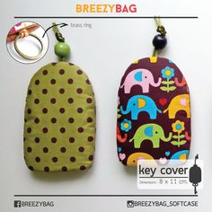100% Handmade Cotton Key Cover Hand Sewn คีย์โคฟเวอร์ งานแฮนด์เมดจากผ้าคอตตอน | BREEZYBAG?