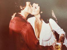 My grandma and Hugh Hefner at the Playboy Club in Detroit early 1970s