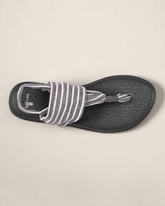 Sanuk Yoga Sling Sandals - Stripe | LOVE them; so cute and comfy