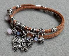 DBL Wrap Butterfly Bracelet by StoneLoveJewelryGirl on Etsy, $18.00