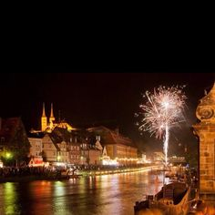 Bamberg, Germany night of a festival here