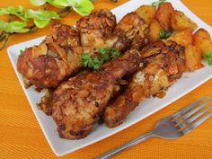 W czwartkowe przedpołudnie zapraszam na pyszne pałki z kurczaka pieczone w winie z bakaliami. Kurczak jest doskonale przyprawiony, aromat w...