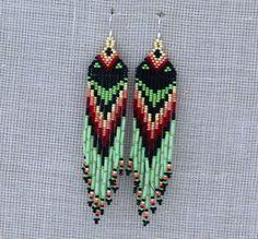 Native American Earrings Inspired. Dangle Long by Burvesrotas, $31.00