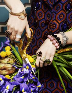 CLM - Photography - Lacey - jewels and flowers