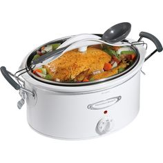 Stay or Go 6Quart Slow Cooker with ClipTight