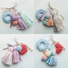 Crochet Eyes, Love Crochet, Crochet Lace, Crochet Stitches, Crochet Patterns, Crochet Lanyard, Crochet Keychain, Diy Keychain, Crochet Crafts