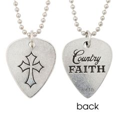 Christian Necklace - Country Faith Guitar Pick on SonGear.com - Christian Shirts, Jewelry