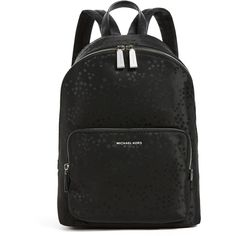 MICHAEL Michael Kors Wythe Large Backpack (250 CAD) ❤ liked on Polyvore featuring bags, backpacks, black, zip backpack, embroidery bag, embroidered bag, backpack bags and michael michael kors