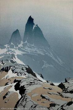 Aufragende Felsspitzen II - Oscar Droege (1898 - 1982)