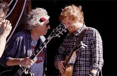 Yes !!! Keith 'Keef' Richards (The Rolling Stones) On Stage with.... Ed Sheeran (!¿¡?) - Kansas City, (June 27, 2015).