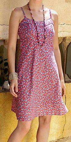 Pink Dot Sleeveless Dress