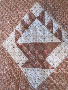 19thC  Early Calico Quilt.