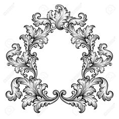 Vintage Baroque Frame Scroll Ornament Engraving Border Retro.. Royalty Free Cliparts, Vectors, And Stock Illustration. Image 35309665.