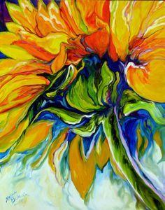 American Art Moves!: M BALDWIN ORIGINAL SUNFLOWER ART