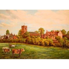 Smethwick old church and vicarage by Henry Challis, early 20th century.  From the collections of Wednesbury Museum and  Art Gallery.