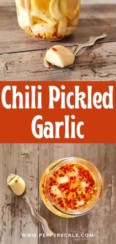 Chili pickled garlic is a great way to store everyone's favorite cooking ingredient, adding a little something extra in the process to boot. With the addition of red pepper flakes, these little wonders work well added to recipes to provide just a touch of warmth. #chilipickledgarlic #picklegarlic #garlic #chili #pickled
