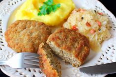 Kotlety Mielone Magdy Gessler Meatloaf, Mashed Potatoes, Ethnic Recipes, Food, Whipped Potatoes, Smash Potatoes, Essen, Meals, Yemek