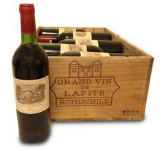 Vendres-ses-vins-gands crus; 1 Caisse Bois d'Origine de 12 Bouteilles de 75 cl - Château LAFITE Rothschild 1982. ©www.wanted-vin-com