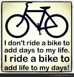 Riding my bike!