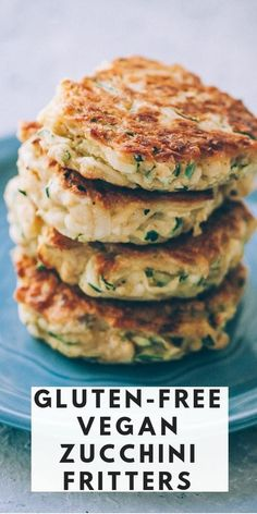 These easy, healthy Gluten-Free Vegan Zucchini Fritters are made with chickpea flour for added nutrition and depth. Packed with the perfect blend of spices, these delightful vegan fritters are beyond DELICIOUS, too! #veganzucchinifritters Vegan Gluten Free, Gluten Free Recipes, Vegan Recipes, Cooking Recipes, Vegan Foods, Curry Recipes, Gluten Free Zucchini Fritters, Vegan Fritters Recipe, Vegan Appetizers