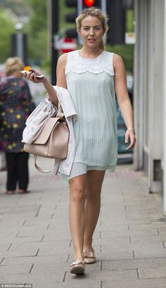 Arriving for work: Lydia Bright, 26, was spotted attending her Bella Sorella fashion boutique on Saturday