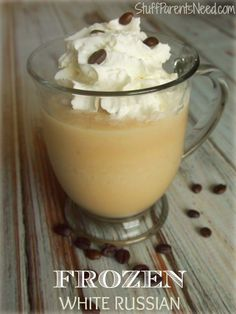 frozen White Russian - use half and half instead if creamer