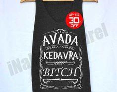 Harry Potter Magic Spell Shirt Avada kedavra Shirts Tank Top Vintage Unisex Size S M L