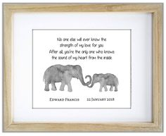 Elephant and Baby Elephant. No One Else Will Ever Know The Strength of My Love For You. Mother and Child Elephant Quote. Mothers Love Quotes, My Children Quotes, Quotes For Kids, Elephant Quotes, Mother And Baby Elephant, Baby Silhouette, Purple Elephant, Elephant Nursery, Mother And Child