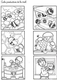 Honig, Imker, #Bienen #bildergeschichte, #sprechen lernen,