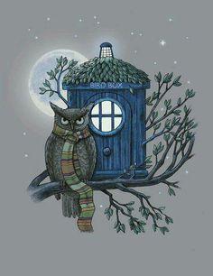 Owl TARDIS Doctor Who